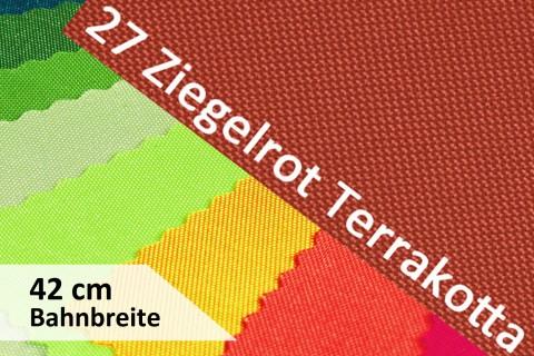 novely® OXFORD 600D | 42cm Bahnbreite | Tischläufer | Polyester Stoff PVC Segeltuch Farbe 27 Ziegelrot