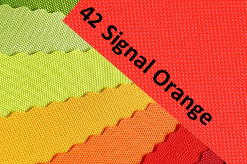 novely® OXFORD 600D Polyester Stoff PVC Segeltuch Farbe 42 Signalorange