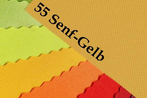 novely® OXFORD 600D Polyester Stoff PVC Segeltuch Farbe 55 Senfgelb