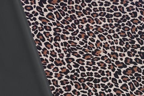 novely® OXFORD 600D Polyester Stoff PVC Segeltuch | D14 Leopard