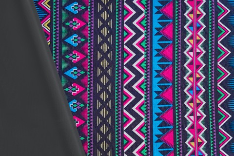 novely® OXFORD 600D Polyester Stoff PVC Segeltuch | D7 Aztekenmuster