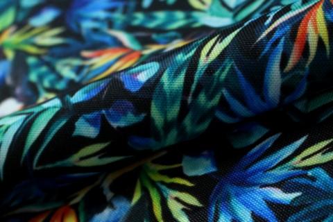 novely® OXFORD 210D Outdoor Print Stoff | Tropic Tukan Blau