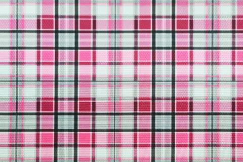 novely® OXFORD 210D Outdoor Print Stoff   D56 Karo Mini Pink