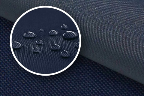 novely® OXFORD 2000D Polyester SCHWERER Stoff PVC Abdeckung Farbe 25 Navy Dunkelblau