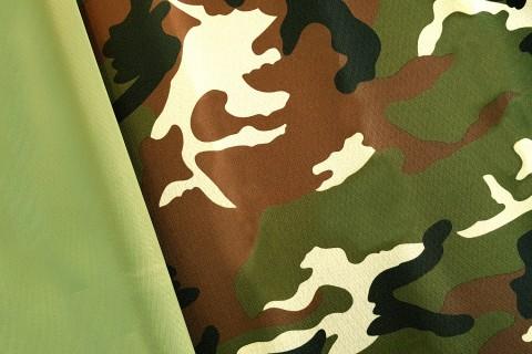 novely® OXFORD 600D Polyester Stoff PVC Segeltuch | D1 Camouflage Grün Braun