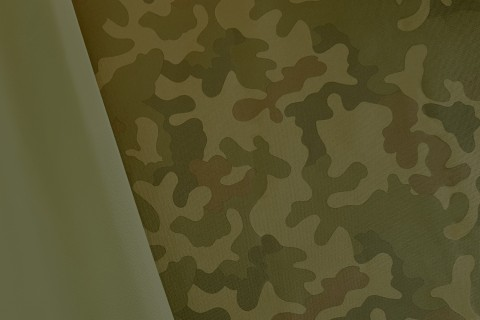 novely® OXFORD 600D Polyester Stoff PVC Segeltuch | D2 Camouflage Grün Dunkel
