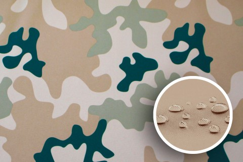 novely® SUNSET 420D Polyester Stoff | Farbe C2 Camouflage Hell