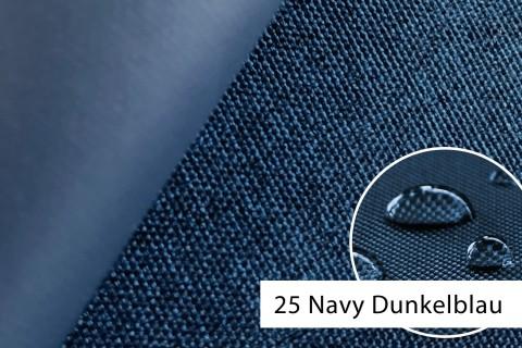 novely® OXFORD 660D Mélange Polyester Stoff PVC wasserdicht | Farbe 25 Navy Dunkelblau