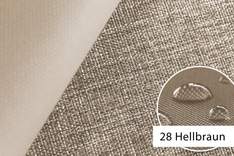 novely® OXFORD 660D Mélange Polyester Stoff PVC wasserdicht | Farbe 28 Hellbraun