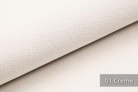 novely® PASSAU | samtig weicher Chenille Möbelstoff | Farbe 01 Creme