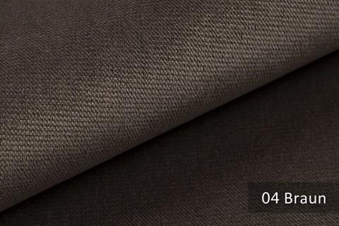 novely® PASSAU | samtig weicher Chenille Möbelstoff | Farbe 04 Braun