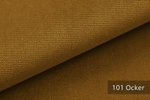 novely® PASSAU   samtig weicher Chenille Möbelstoff   Farbe 101 Ocker