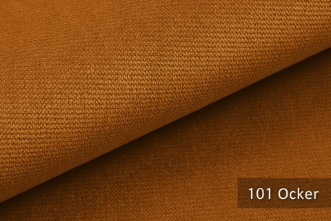 novely® PASSAU | samtig weicher Chenille Möbelstoff | Farbe 101 Ocker