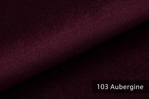 novely® PASSAU | samtig weicher Chenille Möbelstoff | Farbe 103 Aubergine