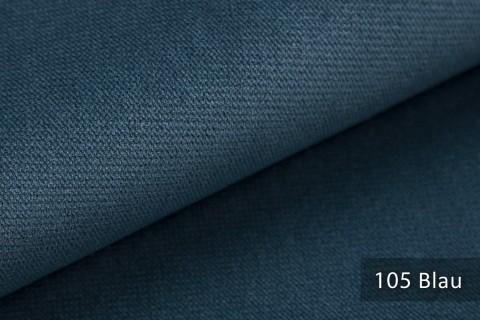 novely® PASSAU | samtig weicher Chenille Möbelstoff | Farbe 105 Blau