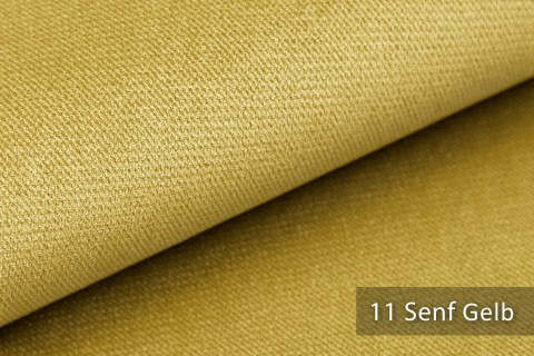 novely® PASSAU   samtig weicher Chenille Möbelstoff   Farbe 11 Senf Gelb