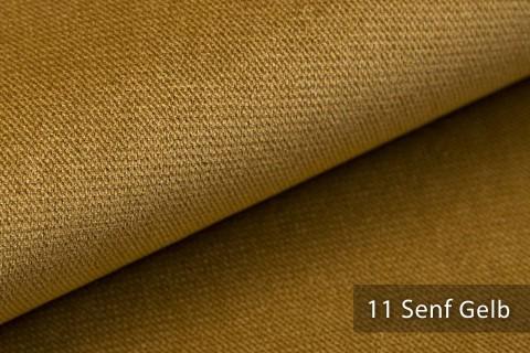 novely® PASSAU | samtig weicher Chenille Möbelstoff | Farbe 11 Senf Gelb