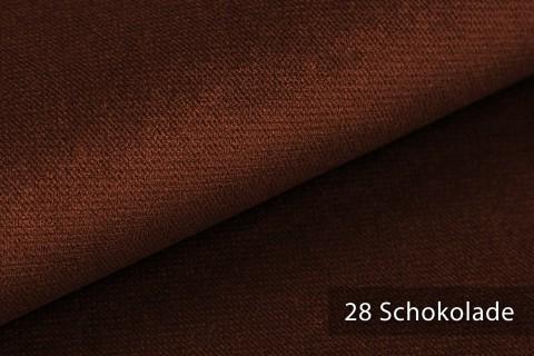 novely® PASSAU   samtig weicher Chenille Möbelstoff   Farbe 28 Schokolade