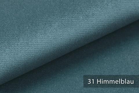 novely® PASSAU | samtig weicher Chenille Möbelstoff | Farbe 31 Himmelblau