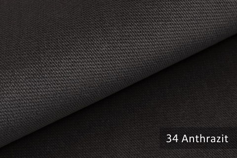 novely® PASSAU   samtig weicher Chenille Möbelstoff   Farbe 34 Anthrazit