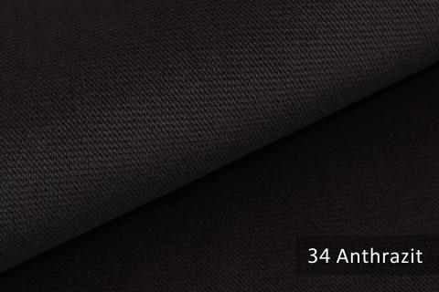 novely® PASSAU | samtig weicher Chenille Möbelstoff | Farbe 34 Anthrazit
