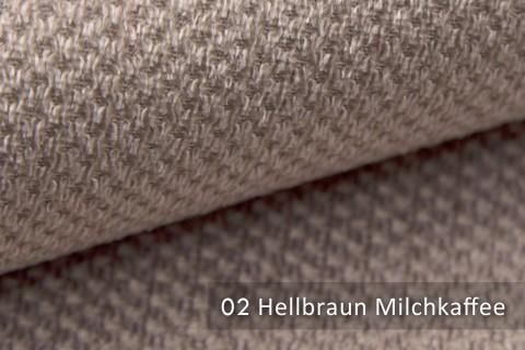 novely® PIROW weicher und zeitloser Polsterstoff | Möbelstoff – feine Textur | 02 Hellbraun Milchkaffee