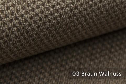 novely® PIROW weicher und zeitloser Polsterstoff | Möbelstoff – feine Textur | 03 Braun Walnuss