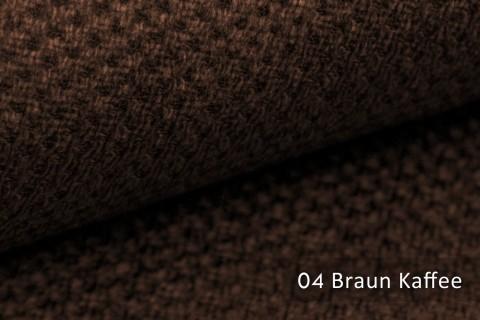 novely® PIROW weicher und zeitloser Polsterstoff | Möbelstoff – feine Textur | 04 Braun Kaffee
