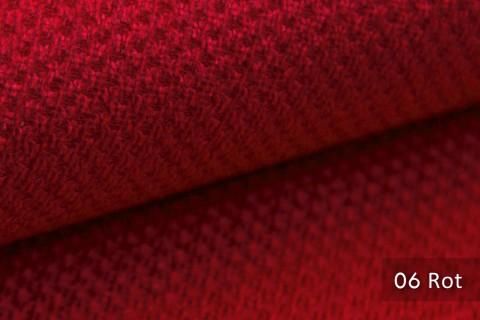 novely® PIROW weicher und zeitloser Polsterstoff | Möbelstoff – feine Textur | 06 Rot