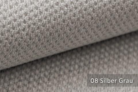 novely® PIROW weicher und zeitloser Polsterstoff | Möbelstoff – feine Textur | 08 Silber Grau