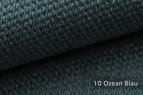 novely® PIROW weicher und zeitloser Polsterstoff | Möbelstoff  – feine Textur | 10 Ozean Blau