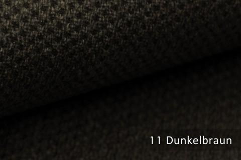 novely® PIROW weicher und zeitloser Polsterstoff | Möbelstoff – feine Textur | 11 Dunkelbraun