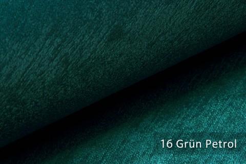 novely® PLATIN - eleganter, glänzender Möbelstoff ULTRA-CLEAN | Farbe 16 Grün Petrol
