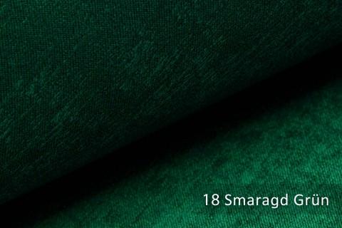 novely® PLATIN - eleganter, glänzender Möbelstoff ULTRA-CLEAN | Farbe 18 Smaragd Grün