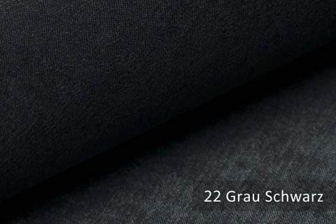 novely® PLATIN - eleganter, glänzender Möbelstoff ULTRA-CLEAN | Farbe 22 Grau Schwarz