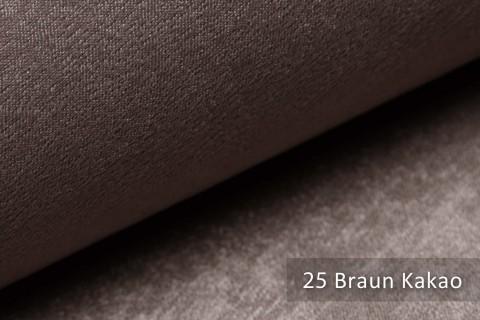 novely® PLATIN - eleganter, glänzender Möbelstoff ULTRA-CLEAN | Farbe 25 Braun Kakao