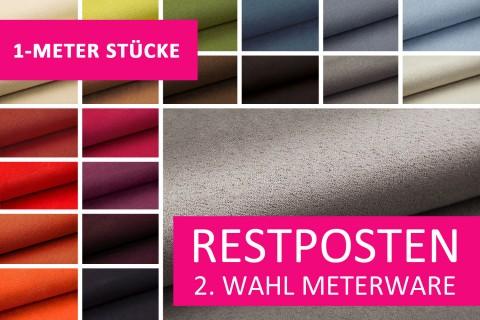 novely® Restposten | 2. Wahl | B-WARE | ALPEN Microfaser Velours-Stoff in Wildleder Optik | 1 METER - STÜCK