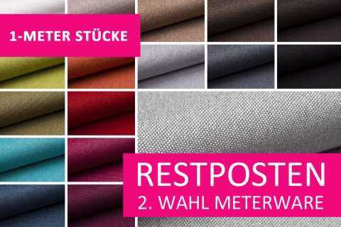 novely® Restposten | 2. Wahl | B-WARE | BALTRUM Webstoff | Polsterstoff | 1 METER - STÜCK
