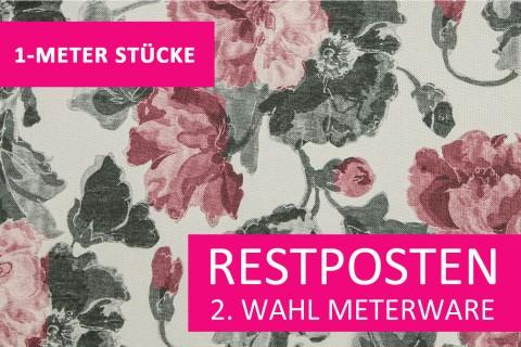 novely® Restposten | 2. Wahl | B-WARE | HANAU FLEUR Polsterstoff gemustert | Polsterstoff | 1 METER - STÜCK