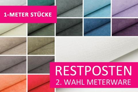 novely® Restposten | 2. Wahl | B-WARE | ORMONT Webstoff | Polsterstoff | 1 METER - STÜCK