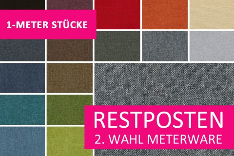 novely® Restposten | 2. Wahl | B-WARE | OXFORD 330D Leinenlook | 1 METER - STÜCK