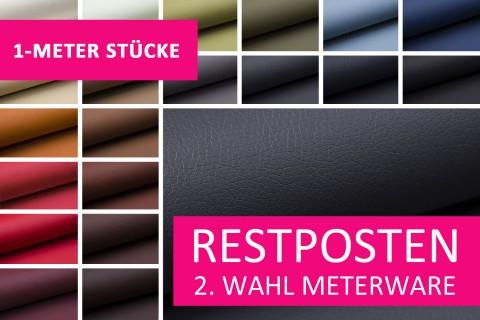 novely® Restposten | 2. Wahl | B-WARE | SOLTAU weiches Kunstleder in Echtleder-Optik | 1 METER - STÜCK