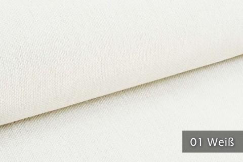 novely® exquisit REVELLO – klassischer, samtweicher und leichter Möbelstoff mit Baumwollanteil | 01 Weiß