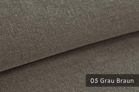 novely® exquisit REVELLO – klassischer, samtweicher und leichter Möbelstoff mit Baumwollanteil | 05 Grau Braun
