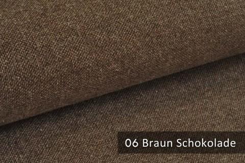 novely® exquisit REVELLO – klassischer, samtweicher und leichter Möbelstoff mit Baumwollanteil | 06 Braun Schokolade