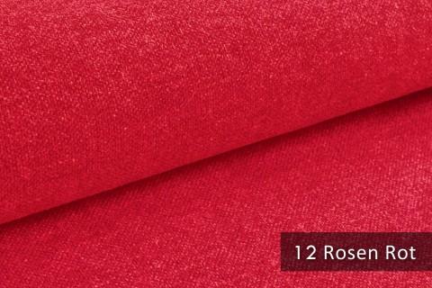 novely® exquisit REVELLO – klassischer, samtweicher und leichter Möbelstoff mit Baumwollanteil |  12 Rosen Rot