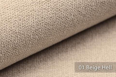 novely® RICKERT - weicher und zeitloser Polsterstoff, Velours mit feiner Textur | Farbe 01 Beige Hell