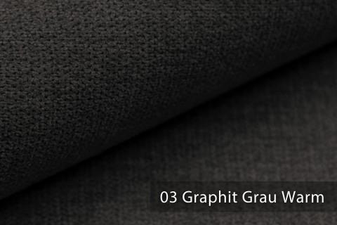 novely® RICKERT - weicher und zeitloser Polsterstoff, Velours mit feiner Textur | Farbe 03 Graphit Grau Warm