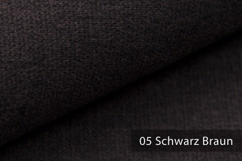 novely® RICKERT - weicher und zeitloser Polsterstoff, Velours mit feiner Textur | Farbe 05 Schwarz Braun