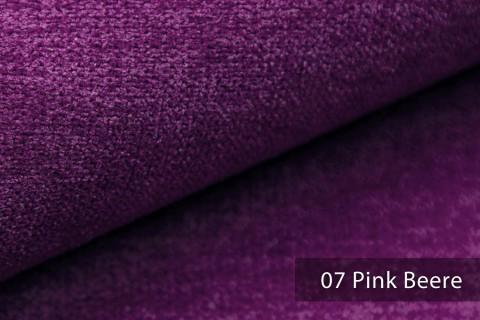 novely® RICKERT - weicher und zeitloser Polsterstoff, Velours mit feiner Textur | Farbe 07 Pink Beere